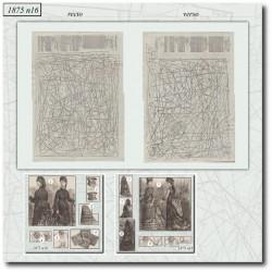 Patrons de La Mode Illustrée 1875 N°16