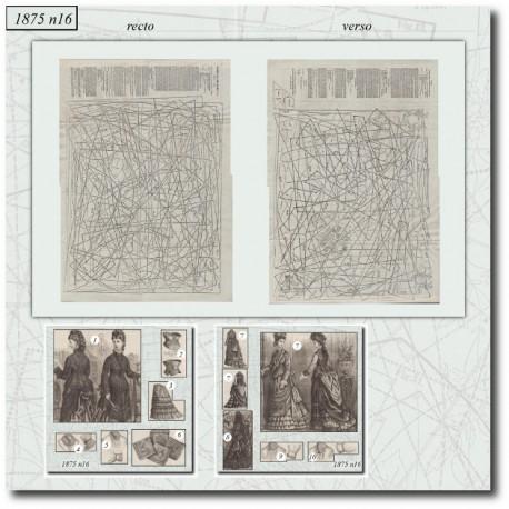 Sewing patterns La Mode Illustrée 1875 N°16
