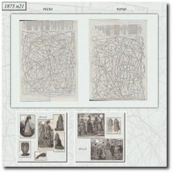 Patrons de La Mode Illustrée 1875 N°21