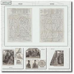 Patrons de La Mode Illustrée 1875 N°27