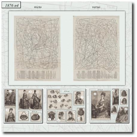 Modèle Patrons de La Mode Illustrée 1876 N°04