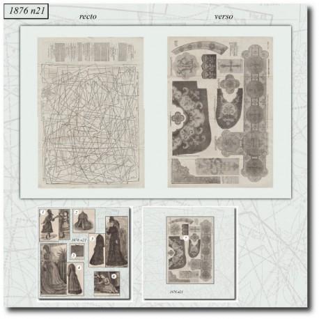 Patrons de La Mode Illustrée 1876 N°21