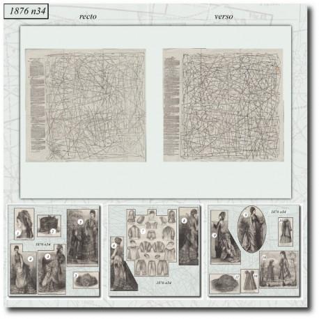 Patrons de La Mode Illustrée 1876 N°34