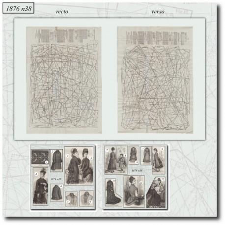 Patrons de La Mode Illustrée 1876 N°38
