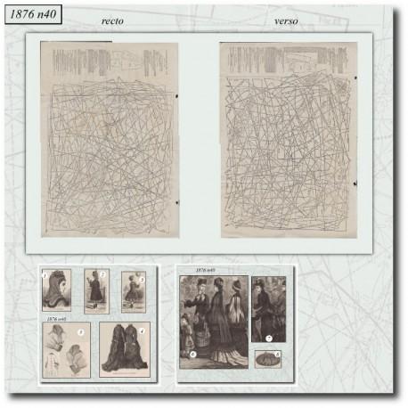 Patrons de La Mode Illustrée 1876 N°40