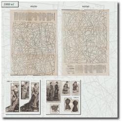 vykrojku La Mode Illustrée 1880 N°01