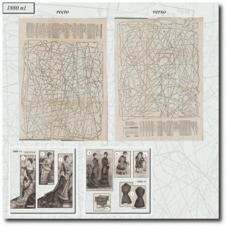 Sewing patterns La Mode Illustrée 1880 N°01