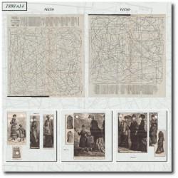 vykrojku La Mode Illustrée 1880 N°14