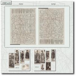 Patrons de La Mode Illustrée 1880 N°16