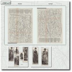 vykrojku La Mode Illustrée 1880 N°19