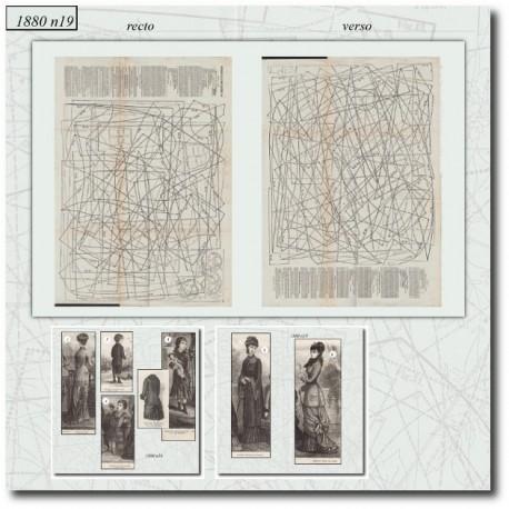 Sewing patterns La Mode Illustrée 1880 N°19
