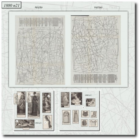 Sewing patterns La Mode Illustrée 1880 N°21