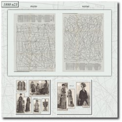 vykrojku La Mode Illustrée 1880 N°23