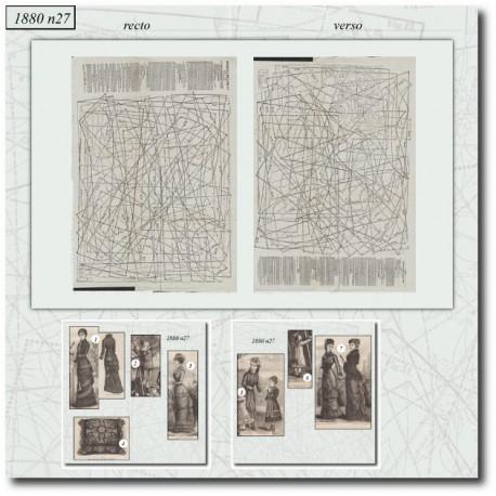Sewing patterns La Mode Illustrée 1880 N°27