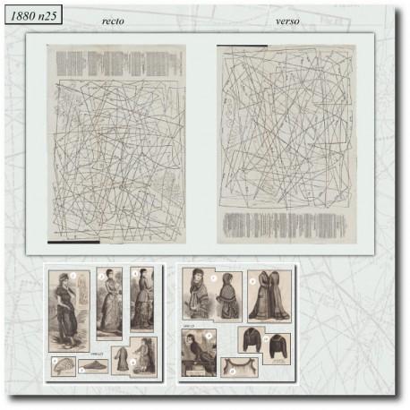 Sewing patterns La Mode Illustrée 1880 N°25