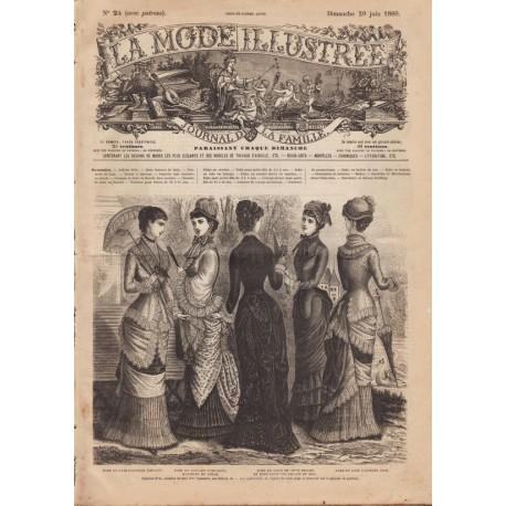 Complete magazine La Mode Illustrée 1880 N°25