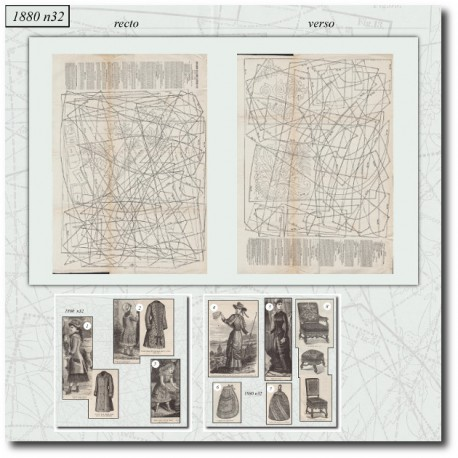 Historical sewing patterns 1880 N°32