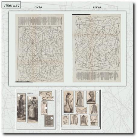 Sewing patterns La Mode Illustrée 1880 N°34