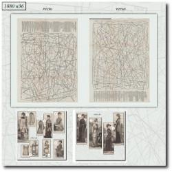 Sewing patterns La Mode Illustrée 1880 N°36
