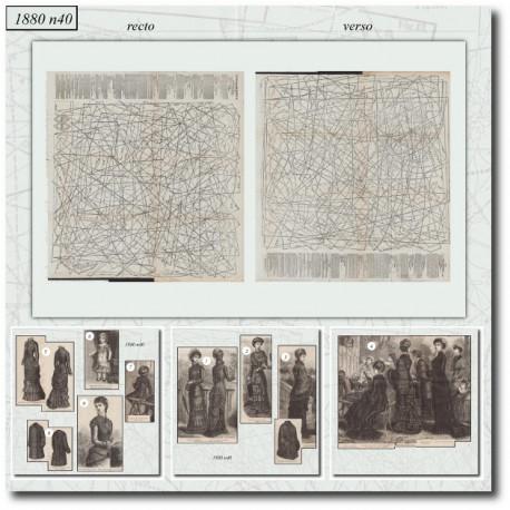 Sewing patterns La Mode Illustrée 1880 N°40