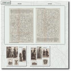 Sewing patterns La Mode Illustrée 1880 N°43