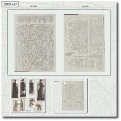 Sewing patterns La Mode Illustrée 1880 N°47