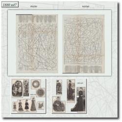 Sewing patterns La Mode Illustrée 1880 N°49