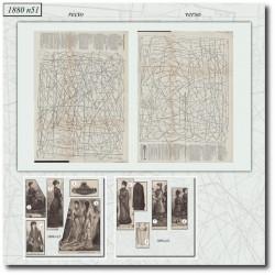 Sewing patterns La Mode Illustrée 1880 N°51