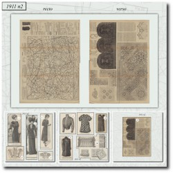 Patrons de La Mode Illustrée 1911 N°2