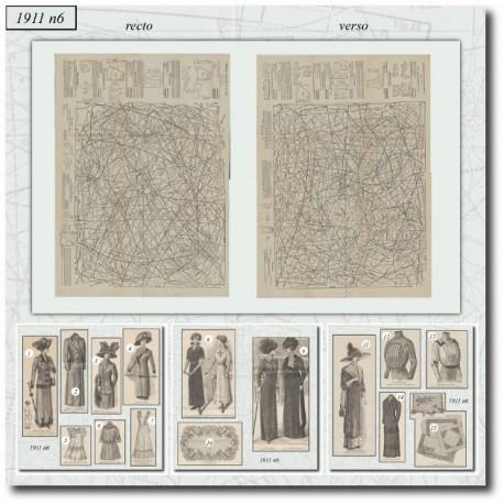 Sewing patterns La Mode Illustrée 1911 N°6