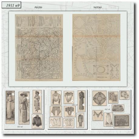 Sewing patterns La Mode Illustrée 1911 N°9