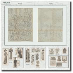 Sewing patterns La Mode Illustrée 1911 N°22