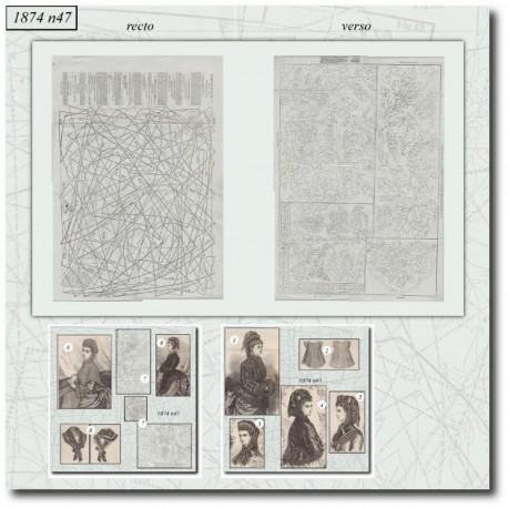 Patrons de La Mode Illustrée 1874 N°47
