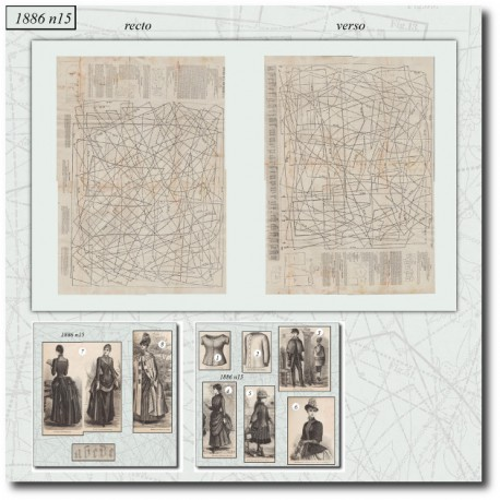 Sewing patterns La Mode Illustrée 1886 N°15