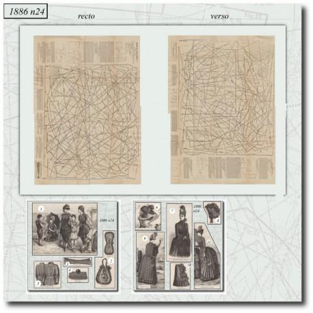 Patrons de La Mode Illustrée 1886 N°24