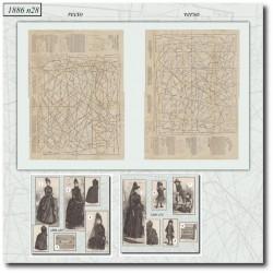 Patrons de La Mode Illustrée 1886 N°28