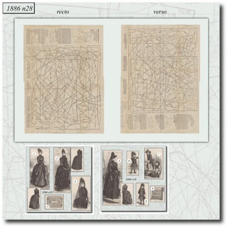 Sewing patterns La Mode Illustrée 1886 N°28
