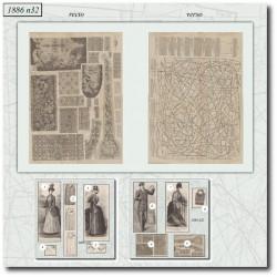 Sewing patterns La Mode Illustrée 1886 N°32
