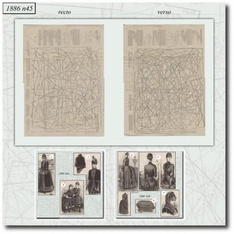 Patrons de La Mode Illustrée 1886 N°45