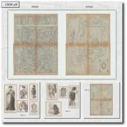 Patrons de La Mode Illustrée 1908 N°04