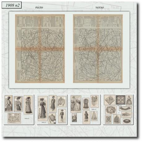 Sewing patterns La Mode Illustrée 1908 N°11