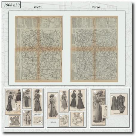 Sewing patterns La Mode Illustrée 1908 N°30