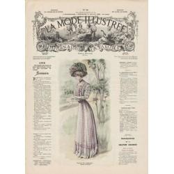 Complete magazine La Mode Illustrée 1908 N°30