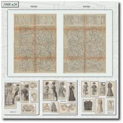Sewing patterns La Mode Illustrée 1908 N°26