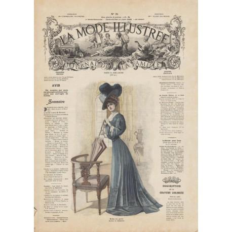 Complete magazine La Mode Illustrée 1908 N°26