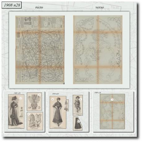 Sewing patterns La Mode Illustrée 1908 N°28