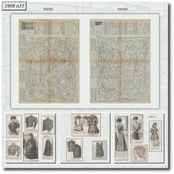 Patrons de La Mode Illustrée 1908 N°15