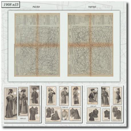 Sewing patterns La Mode Illustrée 1908 N°35