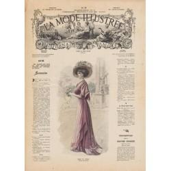 Complete magazine La Mode Illustrée 1908 N°35