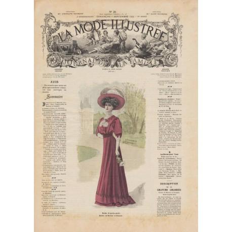 Complete magazine La Mode Illustrée 1908 N°36